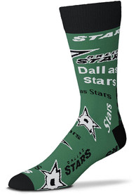 Dallas Stars Wall to Wall Dress Socks - Green