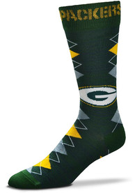 Green Bay Packers Fan Nation Argyle Socks - Green