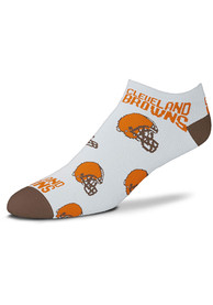 Cleveland Browns Womens Allover No Show Socks - Brown