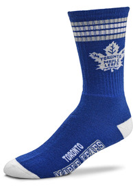 Toronto Maple Leafs 4 Stripe Deuce Crew Socks - Blue