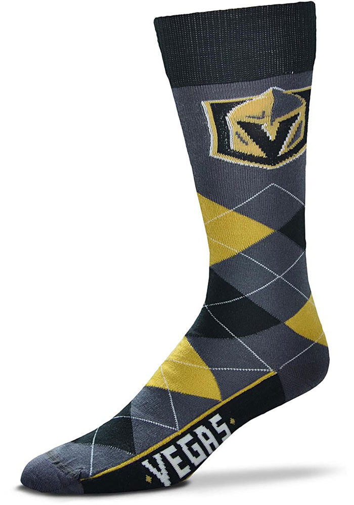 Vegas Golden Knights Team Logo Argyle Socks - Red