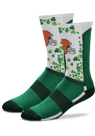 Cleveland Browns St Pattys Day Crew Socks - Green