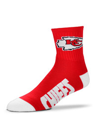 Kansas City Chiefs Black Quarter Socks - Red