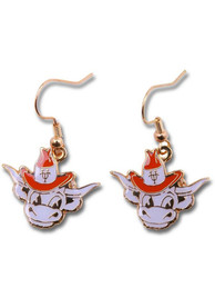 Texas Longhorns Womens Logo Dangle Earrings - Burnt Orange