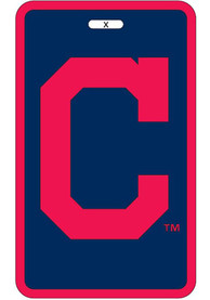 Cleveland Indians Rubber Luggage Tag - Navy Blue
