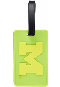 Michigan Wolverines 2pk Neon Luggage Tag - Green