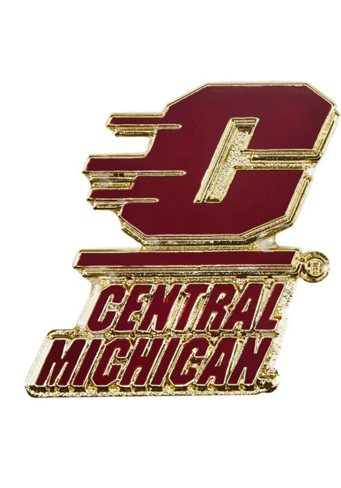 Central Michigan Chippewas Souvenir Team Color Pin - Image 1