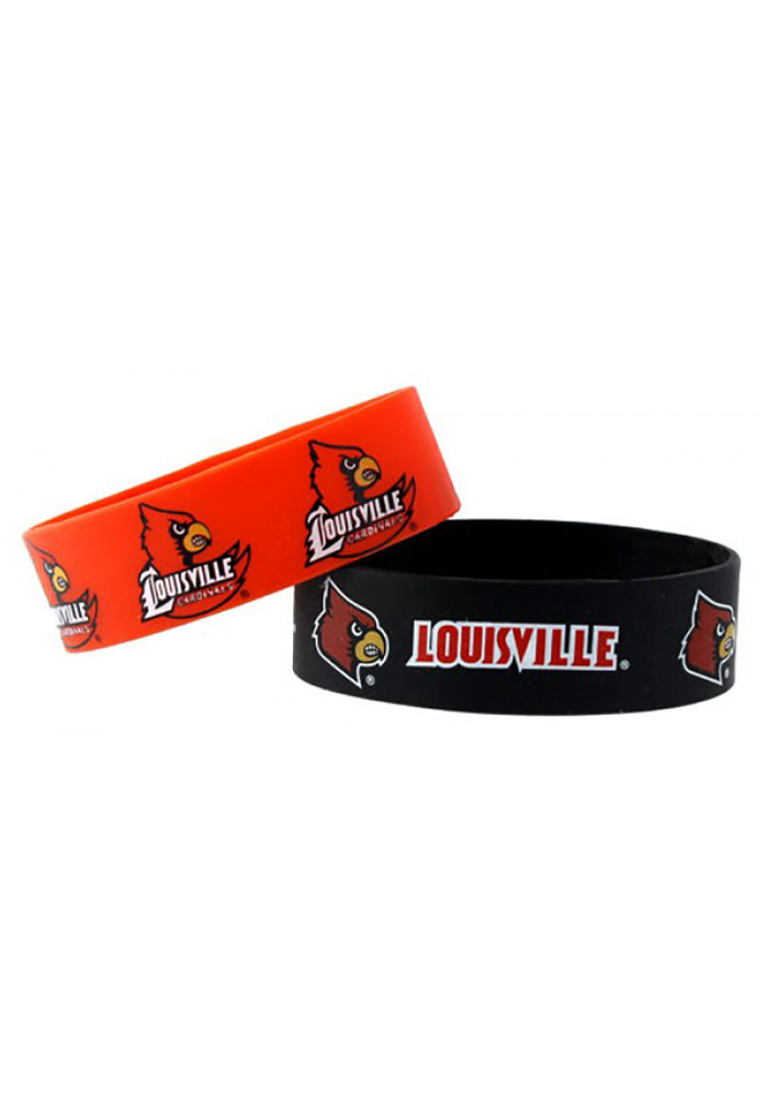 Louisville Cardinals 2 Pack Silicone Kids Bracelet - Image 1