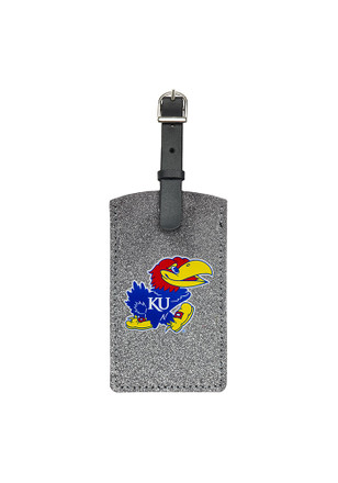 Kansas Jayhawks Blue Sparkle Luggage Tag