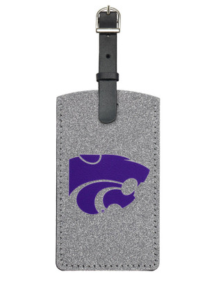 K-State Wildcats Grey Sparkle Luggage Tag