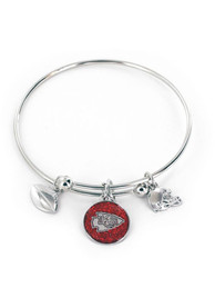 Kansas City Chiefs Womens Mystique Bracelet - Silver