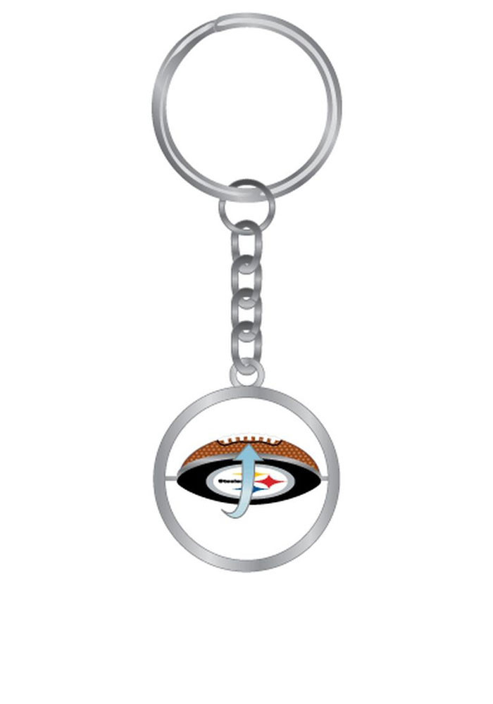 Pittsburgh Steelers Spinning Football Keychain - Image 1