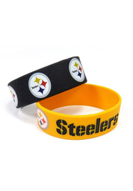 Pittsburgh Steelers Kids 2pk Bulky Bands Bracelet - Yellow