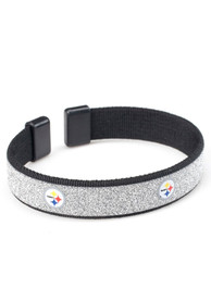 Pittsburgh Steelers Womens Sparkle Bracelet - Black
