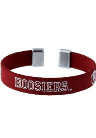 Indiana Hoosiers Womens Ribbon Bracelet - Red