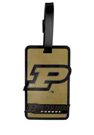 Purdue Boilermakers Rubber Luggage Tag - Black