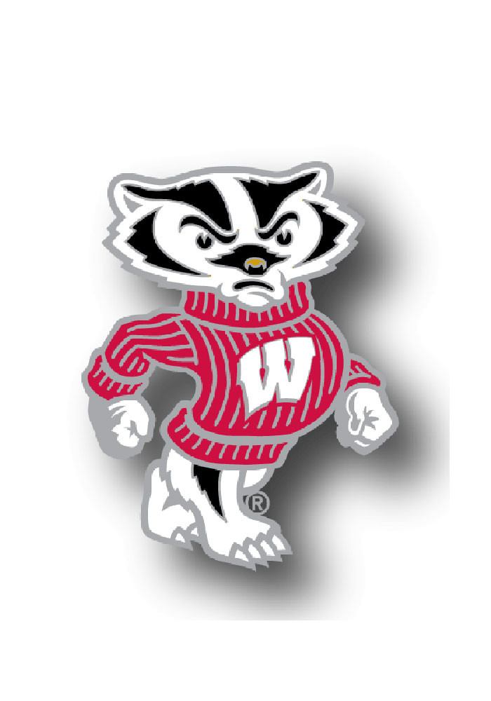 Wisconsin Badgers Souvenir Mascot Pin - Image 1