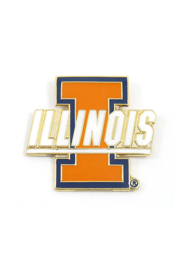 Illinois Fighting Illini Souvenir Logo Pin - Image 1