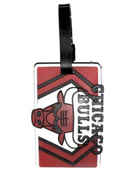 Chicago Bulls Rubber Luggage Tag - Red