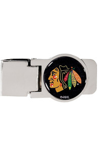 Chicago Blackhawks Team Logo Money Clip - Gold