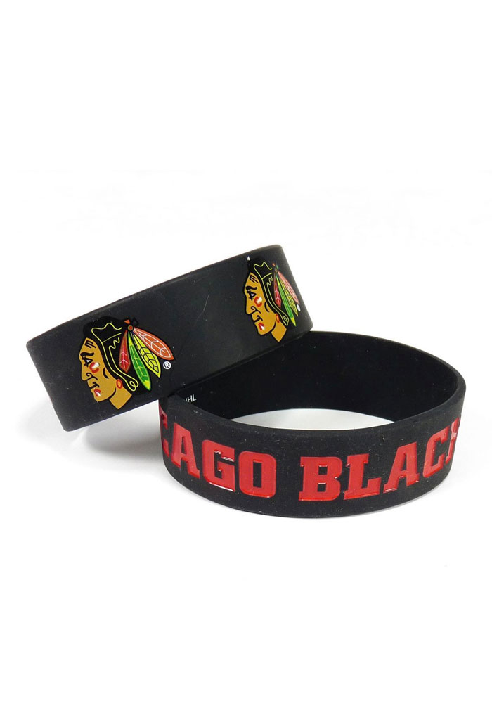 Chicago Blackhawks Wide Kids Bracelet - Image 1