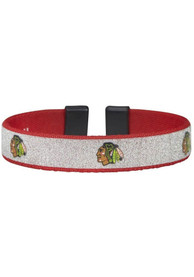Chicago Blackhawks Womens Silver Sparkle Bracelet - Silver