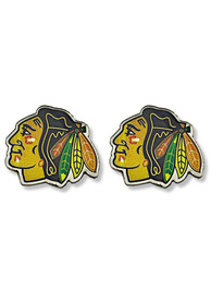 Chicago Blackhawks Womens Logo Post Earrings - Red