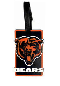 Chicago Bears Rubber Luggage Tag - Navy Blue