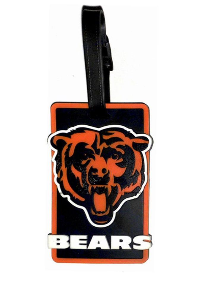 Chicago Bears Navy Blue Rubber Luggage Tag - Image 1