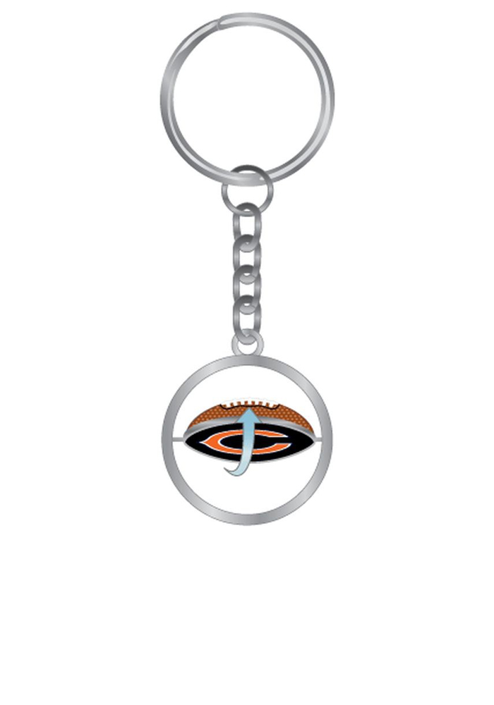 Chicago Bears Football Spinning Keychain - Image 1