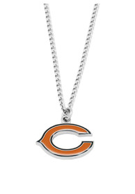 Chicago Bears Womens Team Logo Necklace - Silver