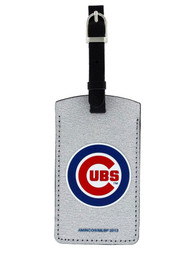Chicago Cubs Sparkle Luggage Tag - Silver