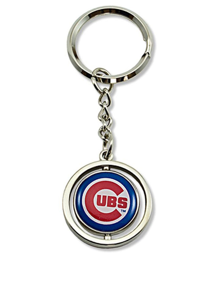 Chicago Cubs Spinning Baseball Keychain - Image 1
