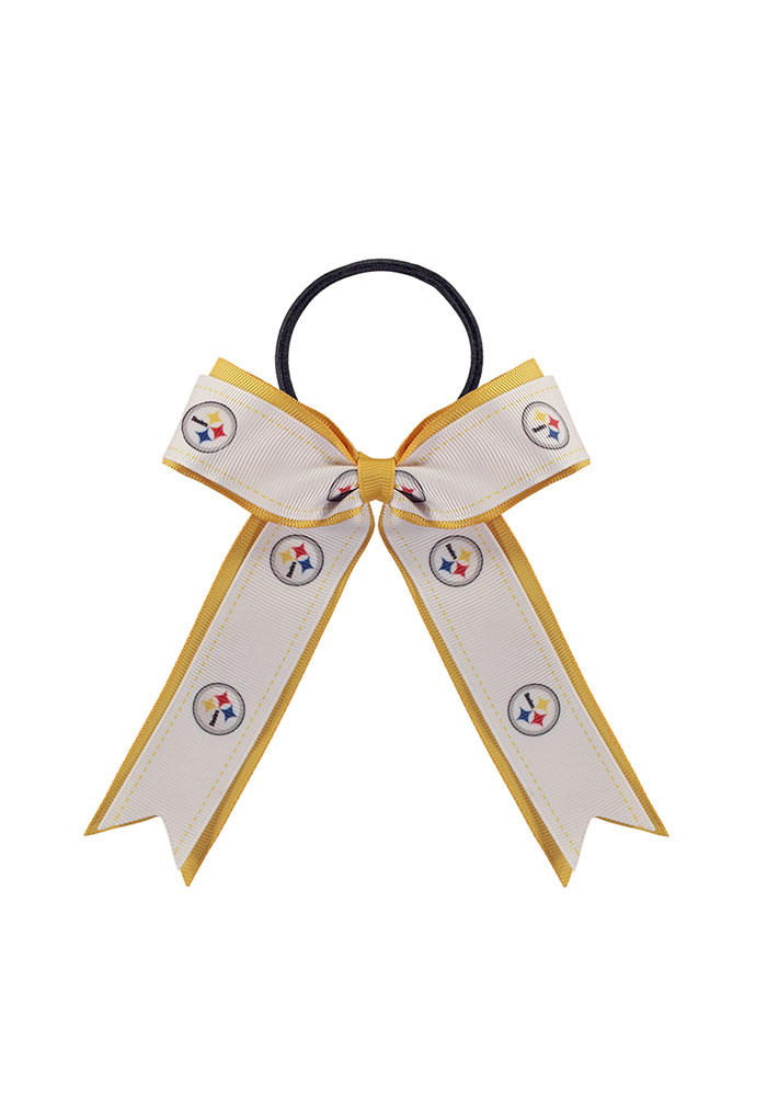 Pittsburgh Steelers Bow Kids Hair Ribbons - Image 1