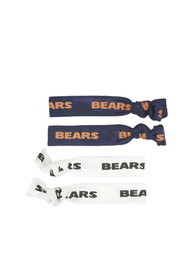 Chicago Bears Kids Team Logo Hair Ribbons - Navy Blue