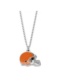 Cleveland Browns Womens Helmet Necklace - Orange
