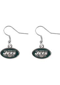 New York Jets Womens Logo Dangler Earrings - Green