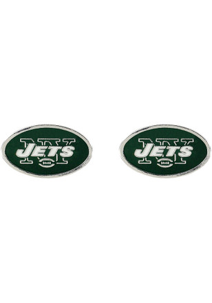 New York Jets Logo Post Womens Earrings