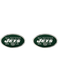 New York Jets Womens Logo Post Earrings - Green