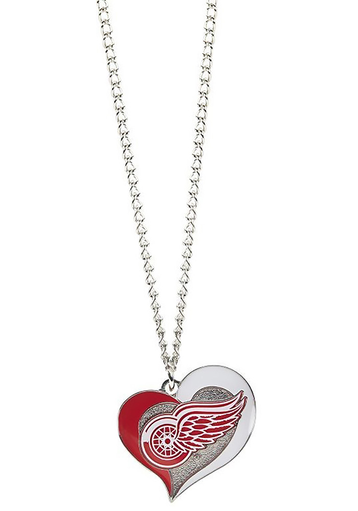 Detroit Red Wings Heart Swirl Necklace - Image 1