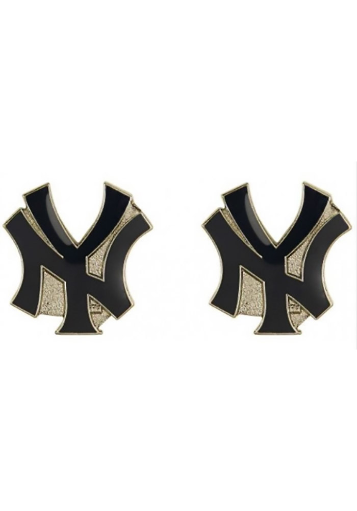 New York Yankees Womens Logo Post Earrings - Navy Blue