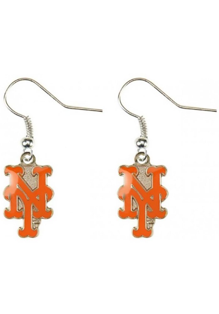 New York Mets Logo Dangler Womens Earrings - Image 1