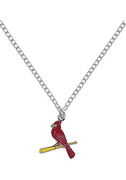 St Louis Cardinals Womens Logo Necklace - Red