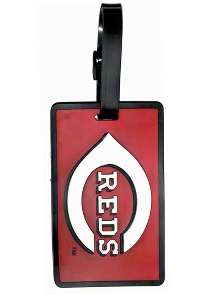 Cincinnati Reds Red Rubber Luggage Tag - Image 1