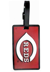 Cincinnati Reds Rubber Luggage Tag - Red