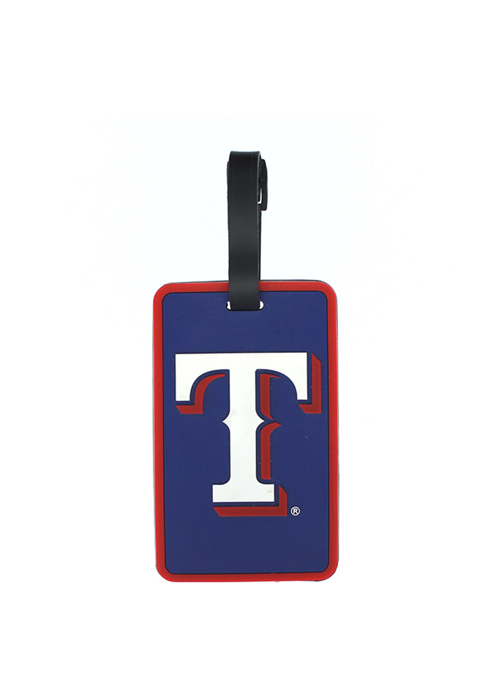 Texas Rangers Red Rubber Luggage Tag - Image 1