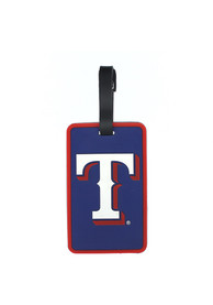 Texas Rangers Rubber Luggage Tag - Red
