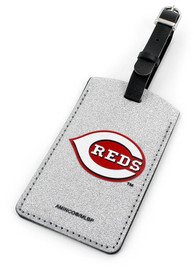 Cincinnati Reds Sparkle Luggage Tag - Red