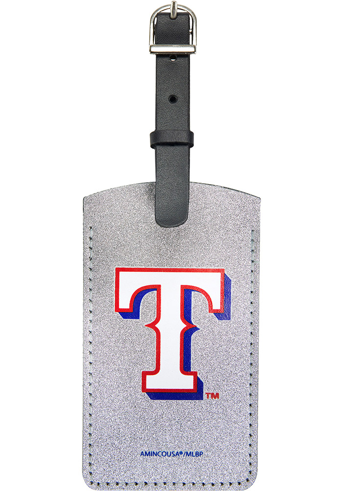 Texas Rangers Red Sparkle Luggage Tag - Image 1