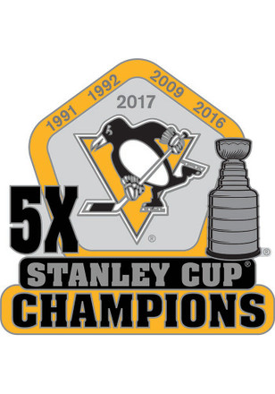 Pittsburgh Penguins Stanley Cup Champions Pin